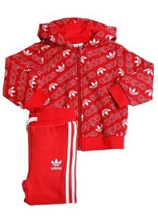 Adidas Logo Techno Zip Sweatshirt & Sweatpants
