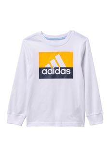 Adidas Long Sleeve Block BOS T-Shirt (Toddler & Little Boys)