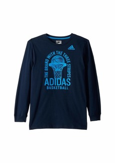 Adidas Long Sleeve Brand Slogan Tee (Big Kids)