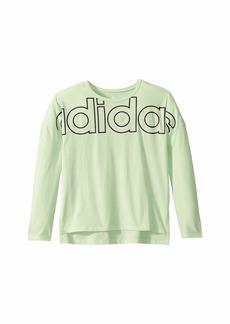Adidas Long Sleeve Cropped Tee (Big Kids)