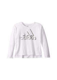 Adidas Long Sleeve Dot Shadow Tee (Big Kids)