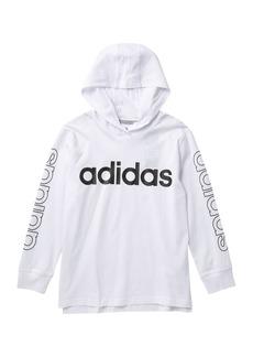 Adidas Long Sleeve Hooded Tee (Little Boys & Big Boys)