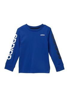 Adidas Long Sleeve Linear Tee (Toddler & Little Boys)