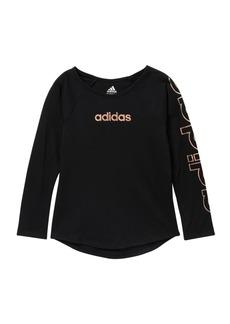 Adidas Long Sleeve Raglan Tee (Big Girls)