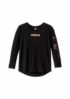 Adidas Long Sleeve Raglan Tee (Big Kids)