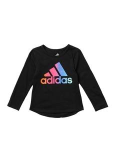 Adidas Long Sleeve Rainbow Gradient Tee (Toddler & Little Girls)