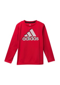 Adidas Long Sleeve Shadow Tee (Toddler & Little Boys)