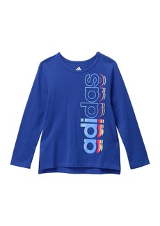 Adidas Long Sleeve Side Vent T-Shirt (Toddler & Little Girls)
