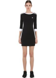 Adidas Long Sleeve Striped Cotton Dress