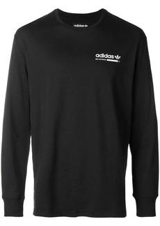 Adidas longsleeved logo print T-shirt