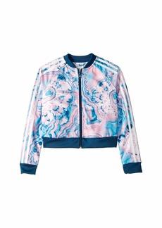 Adidas Marble Crop Track Jacket (Little Kids/Big Kids)