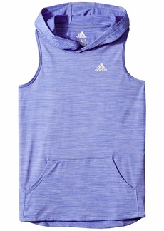 Adidas Melange Hooded Tank Top (Big Kids)