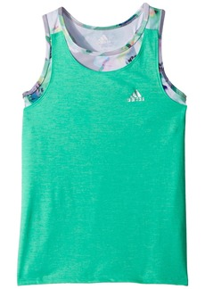 Adidas Melange Twofer Tank Top (Big Kids)
