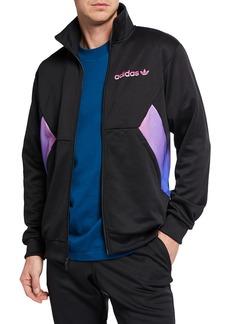 Adidas Men's Colorblock Degrade Zip-Front Track Jacket