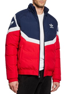 Adidas Men's Colorblock Down Puffer Jacket