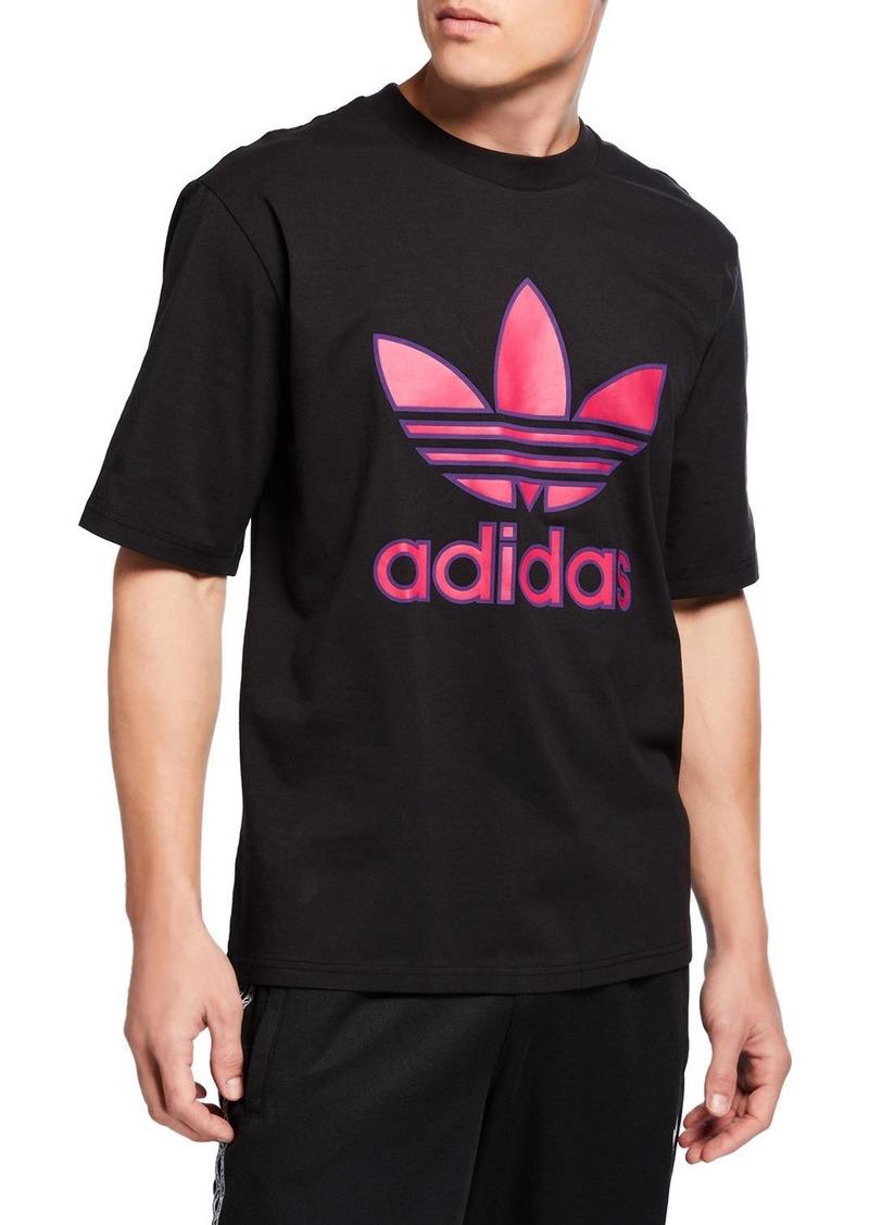 Adidas Men's Large Trefoil Boxy T-Shirt