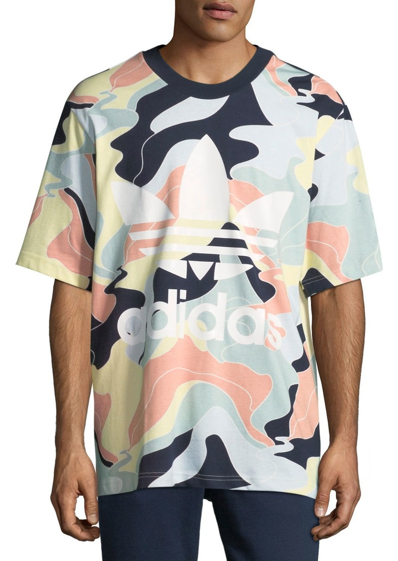 Adidas Men's Multicolor Camo T-Shirt