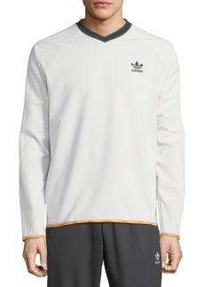 Adidas Men's Pinstripe Crewneck T-Shirt