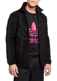 Adidas Men's Tonal Stripes Fleece Track Jacket