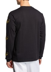 Adidas Men's Trefoil Trim Long-Sleeve T-Shirt