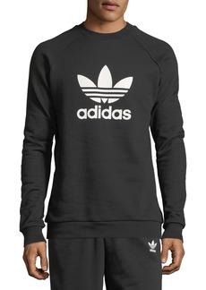 Adidas Men's Trefoil Warm-Up Sweatshirt  Black