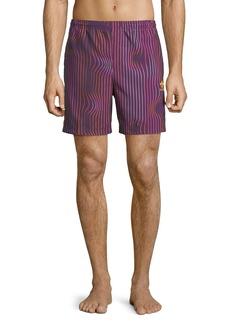Adidas Men's Warped Stripes Swim Trunks