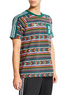 Adidas Men's x Pharrell Williams SOLARHU  Printed Pocket T-Shirt