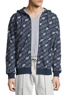 Adidas Men's Zip-Front Logo Graphic Hoodie