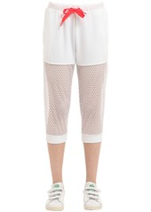 Adidas Mesh & Cotton French Terry Sweatpants