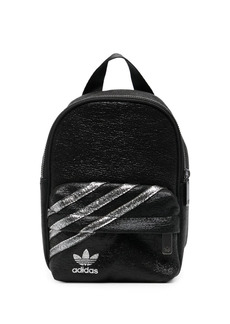 Adidas metallic three-stripe backpack