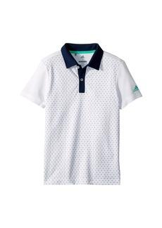 Adidas Micro Dot Print Polo (Big Kids)