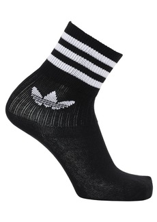 Adidas Mid Cut Solid Crew 3 Pack Cotton Socks