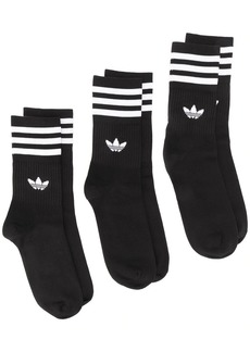 Adidas Mid-Cut three pack socks