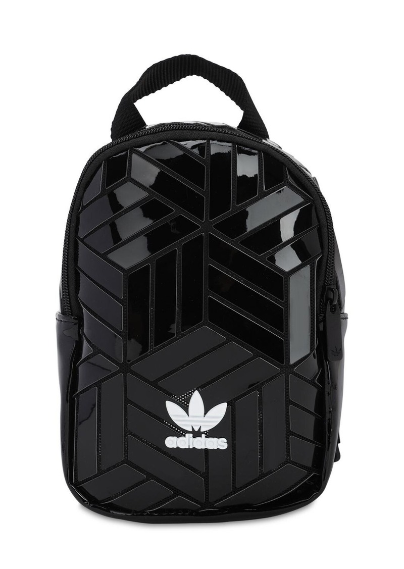 Adidas Mini Faux Patent Leather Backpack