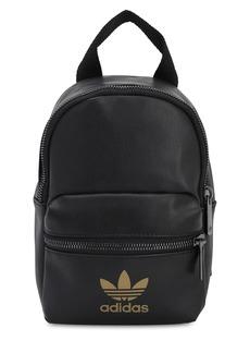 Adidas Mini Logo Faux Leather Backpack