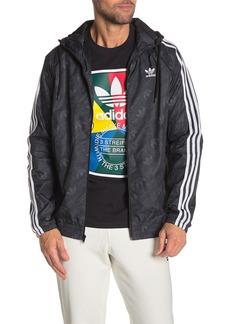 Adidas Mono Tonal Logo Windbreaker Jacket