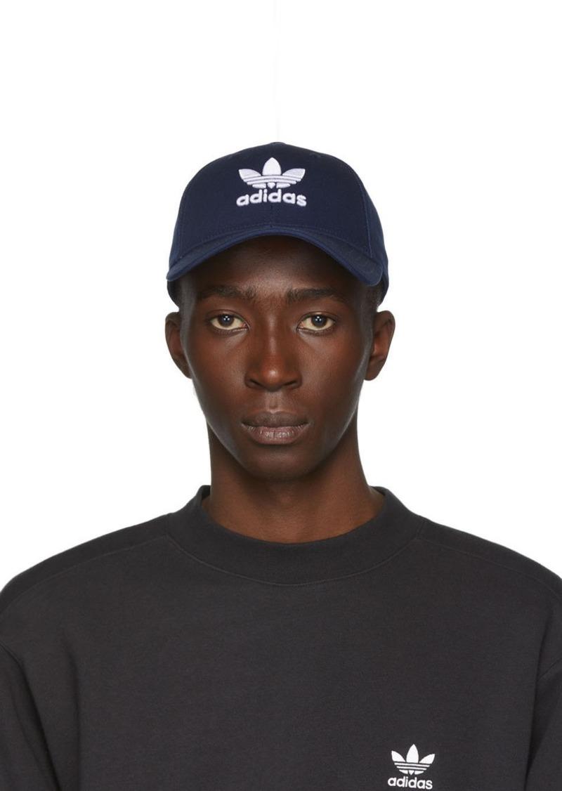Adidas Navy & White Trefoil Cap