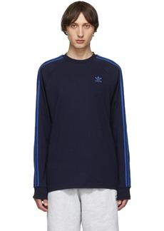 Adidas Navy 3-Stripes Long Sleeve T-Shirt