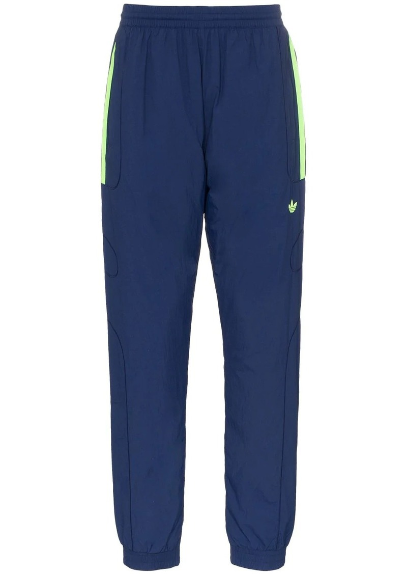 Adidas navy blue triple stripe track pants