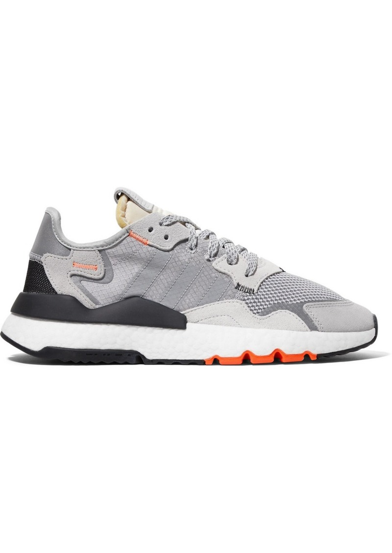 Adidas Nite Jogger Ripstop, Mesh And Suede Sneakers