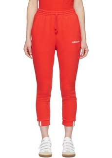 Adidas Orange Cropped Coeeze Lounge Pants