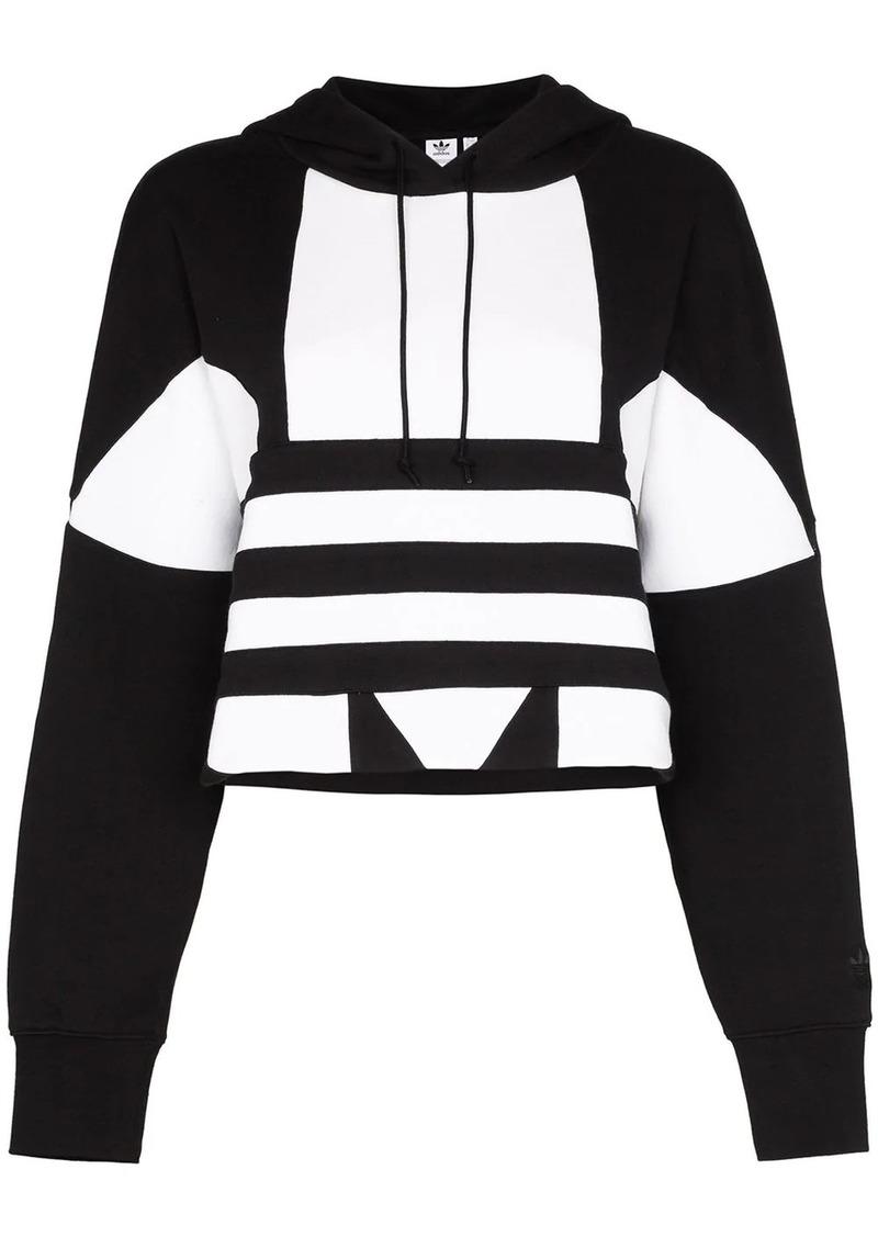 Adidas Originals large logo cotton hoodie