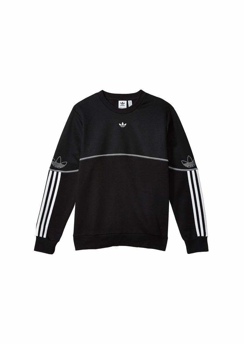 Adidas Outline Crew Sweatshirt (Little Kids/Big Kids)