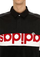 Adidas Oversize Chenille & Tech Jersey Polo