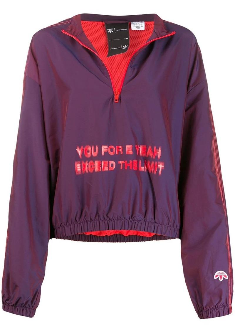 Adidas oversized slogan windbreaker jacket