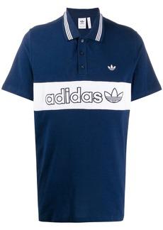 Adidas panelled logo polo shirt