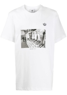 Adidas photographic print T-shirt