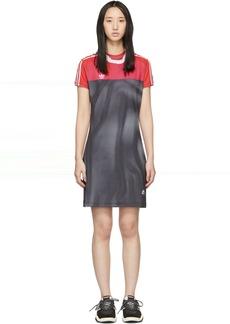 Adidas Pink & Black Photocopy Dress