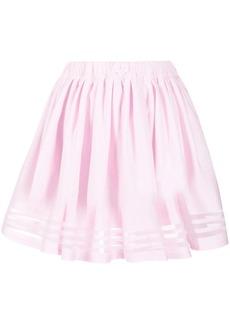 Adidas pleated stripe-hem skirt