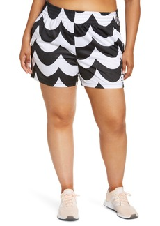Plus Size Women's Adidas X Marimekko Wave Print Primegreen Shorts